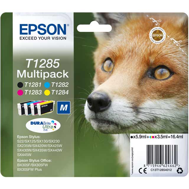 Epson Multipack 4-colours T1285 DURABrite Ultra Ink Cartridge