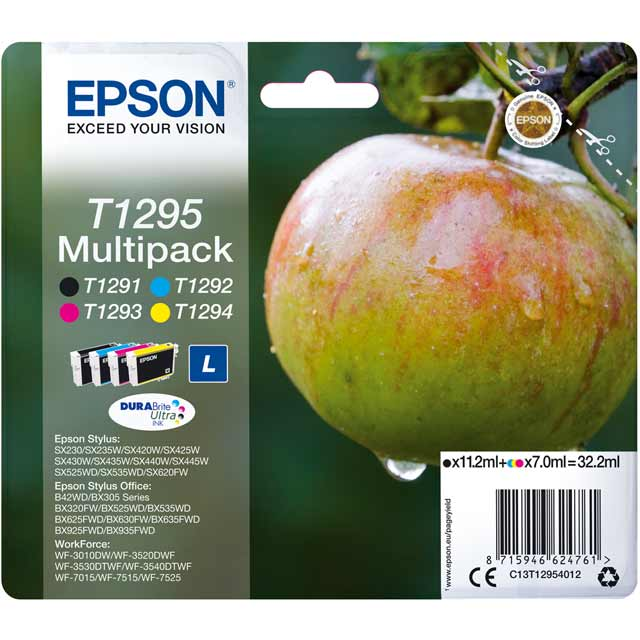 Epson Multipack 4-colours T1295 DURABrite Ultra Ink Cartridge