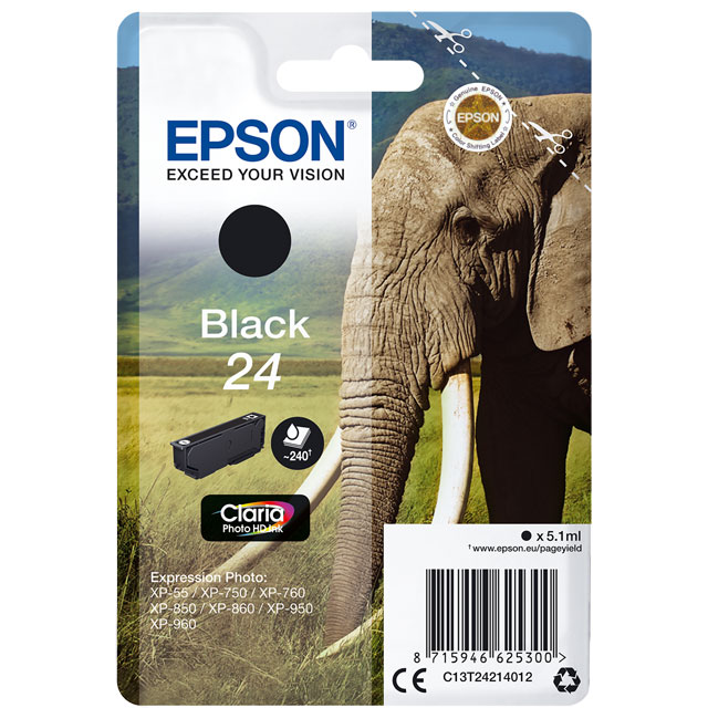 Epson Singlepack Black 24 Claria Photo HD Ink