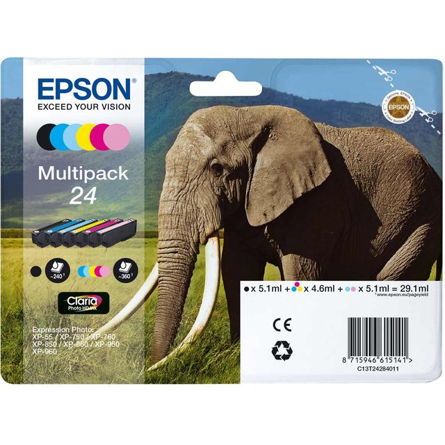 Epson Multipack 6-colours 24 Claria Photo HD Ink Cartridge