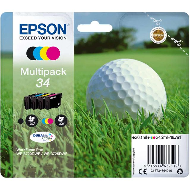 Epson Multipack 4-colours 34 DURABrite Ultra Ink Cartridge