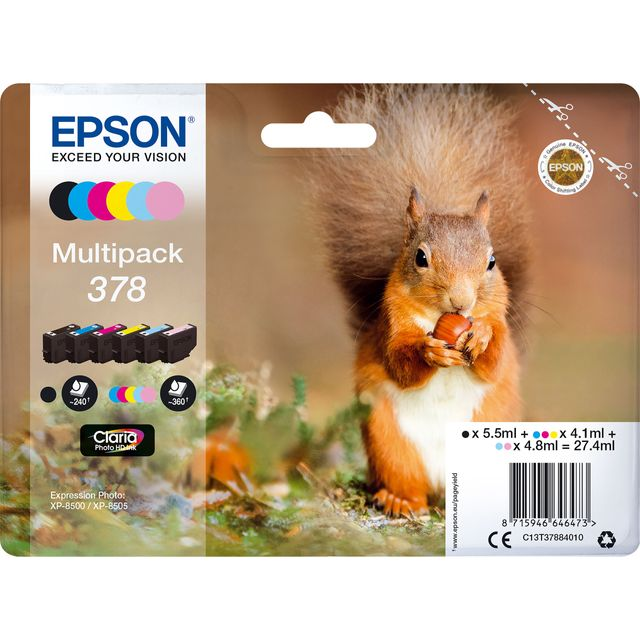 Epson Multipack 6-colours 378 Claria Photo HD Ink