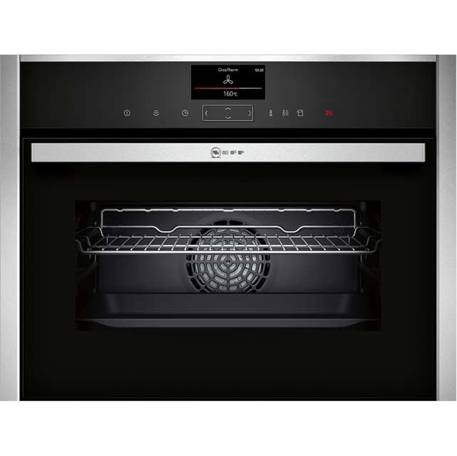 NEFF N90 C17FS32N0B Built In Compact Steam Oven - Stainless Steel - C17FS32N0B_SS - 1
