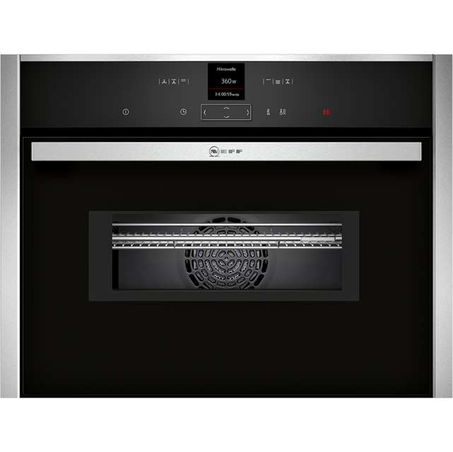 NEFF N70 C17MR02N0B Built In Compact Electric Single Oven with Microwave Function - Stainless Steel - C17MR02N0B_SS - 1