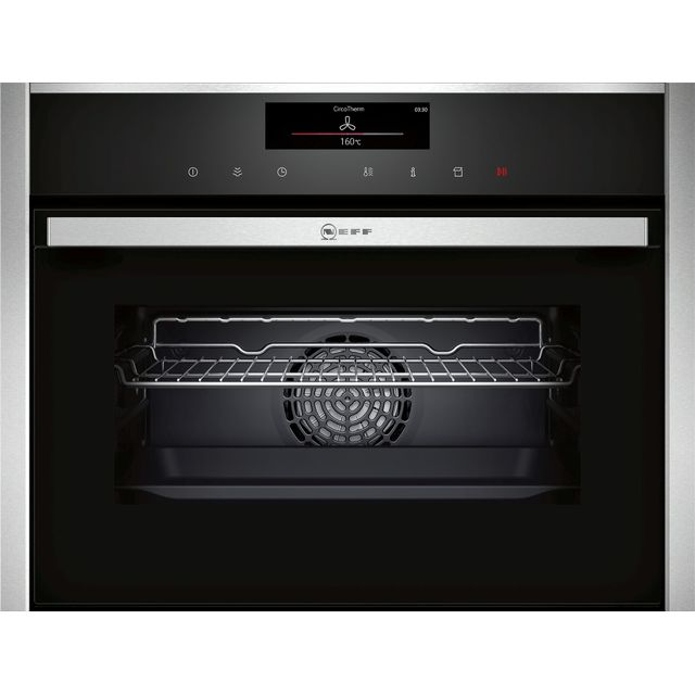 NEFF N90 C18FT56H0B Wifi Connected Built In Compact Electric Single Oven with added Steam Function - Stainless Steel - A+ Rated - C18FT56H0B_SS - 1
