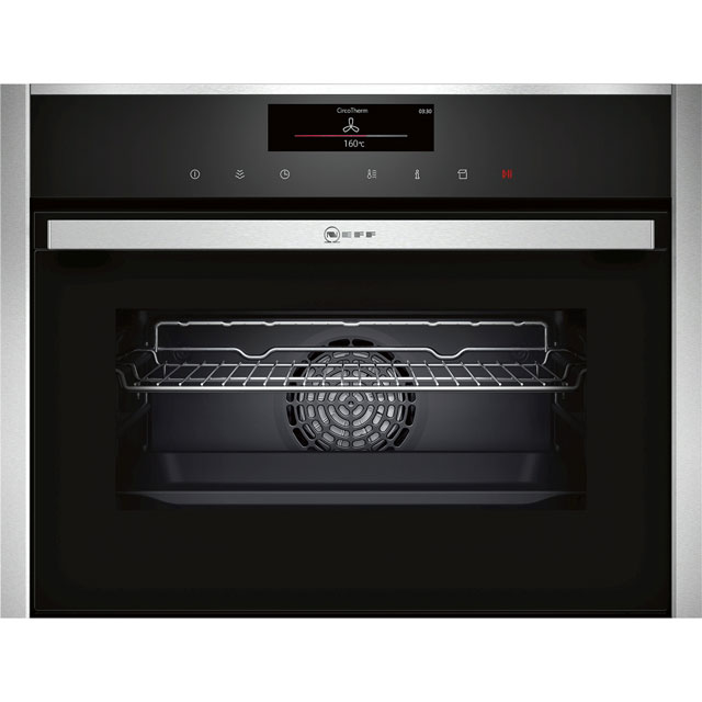 NEFF N90 Compact Electric Single Oven - Stainless Steel - A+ Rated