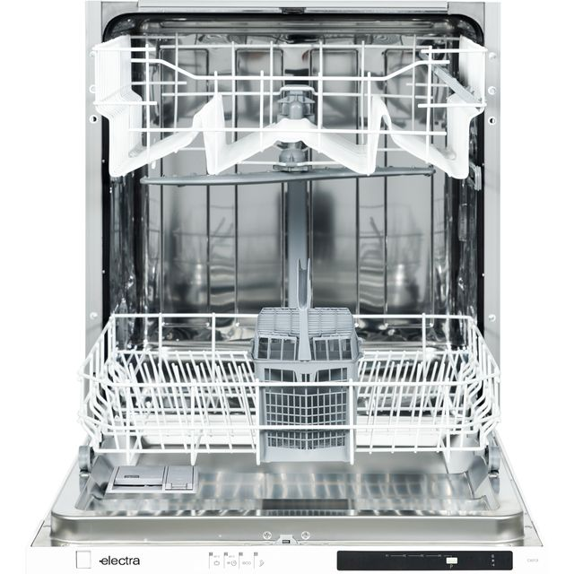 Electra C6012I Fully Integrated Standard Dishwasher - Black Control Panel with Fixed Door Fixing Kit - A++ Rated