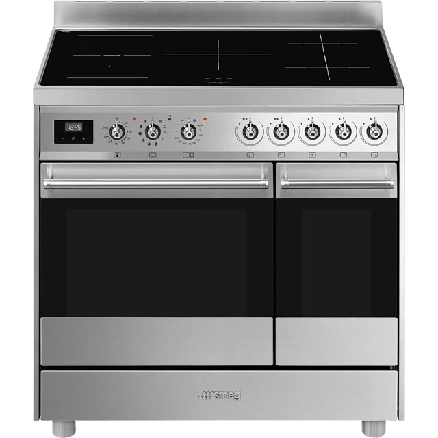 Smeg Classic C92IPX9 90cm Electric Range Cooker with Induction Hob - Stainless Steel - A/A Rated - C92IPX9_SS - 1