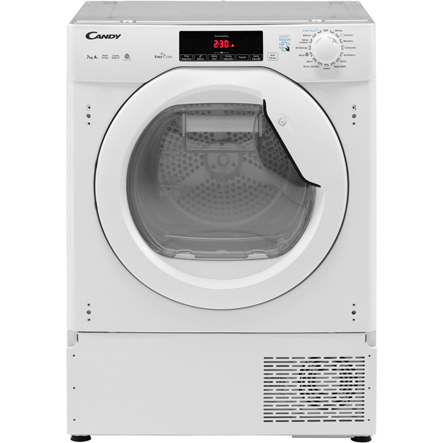 Candy CBTDH7A1TE Built In Heat Pump Tumble Dryer - White - CBTDH7A1TE_WH - 2