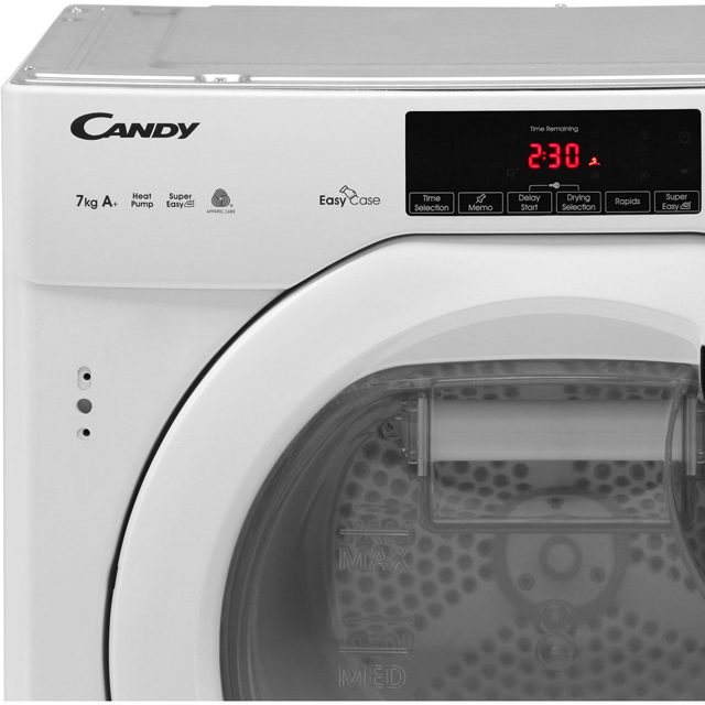 Candy CBTDH7A1TE Built In Heat Pump Tumble Dryer - White - CBTDH7A1TE_WH - 3