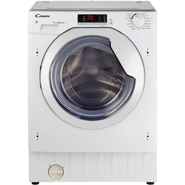 Candy CBWD8514SC Built In Washer Dryer - White / Chrome - CBWD8514SC_WH - 1