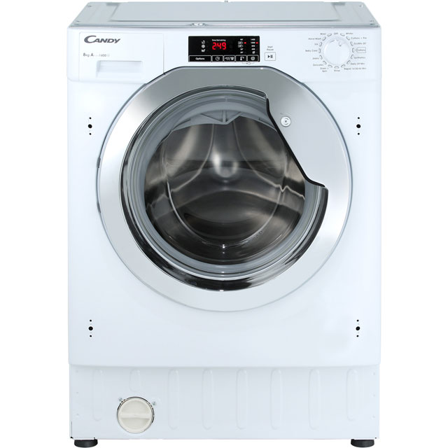 Candy Integrated Washing Machine in White / Chrome