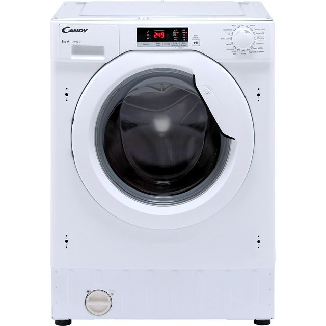 Candy CBWM816S Integrated 8Kg Washing Machine with 1600 rpm - White - A+++ Rated