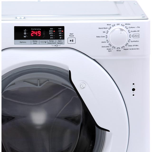 Candy CBWM816S Built In 8Kg Washing Machine - White - CBWM816S_WH - 4