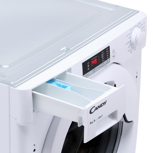 Candy CBWM816S Built In 8Kg Washing Machine - White - CBWM816S_WH - 5