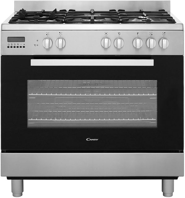 Candy CCG9M52PX 90cm Dual Fuel Range Cooker - Stainless Steel