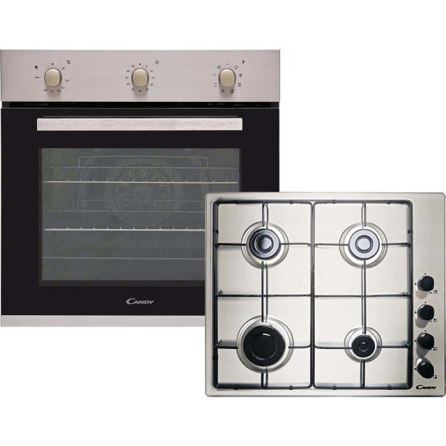 Candy CGHOPK60X/E Built In Single Ovens & Gas Hobs - Stainless Steel - CGHOPK60X/E_SS - 1