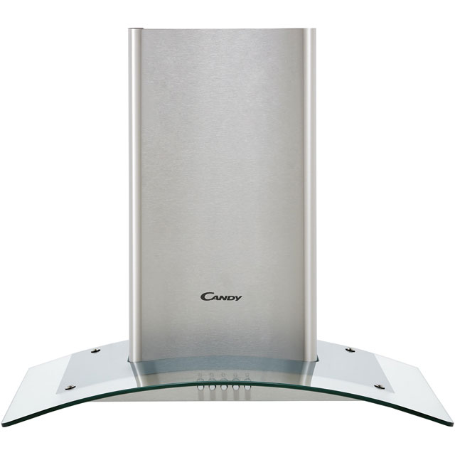 Candy CGM64/1X 60 cm Chimney Cooker Hood - Stainless Steel / Glass - C Rated - CGM64/1X_SSG - 1
