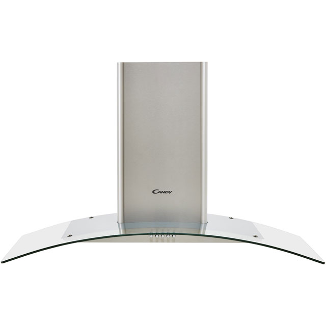 Candy CGM94/1X 89 cm Chimney Cooker Hood - Stainless Steel / Glass - C Rated - CGM94/1X_SSG - 1