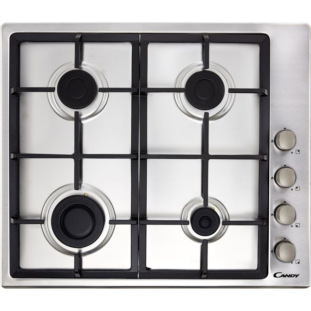 Candy CHG6LX Built In Gas Hob - Stainless Steel - CHG6LX_SS - 1