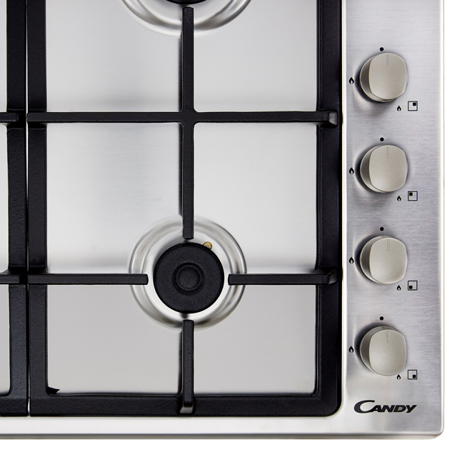 Candy CHG6LX Built In Gas Hob - Stainless Steel - CHG6LX_SS - 3