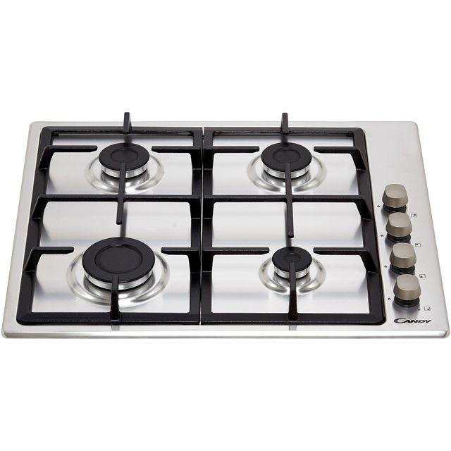 Candy CHG6LX Built In Gas Hob - Stainless Steel - CHG6LX_SS - 4