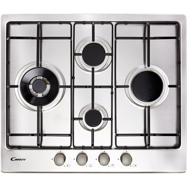 Candy CHW6D4WX Built In Gas Hob - Stainless Steel - CHW6D4WX_SS - 1