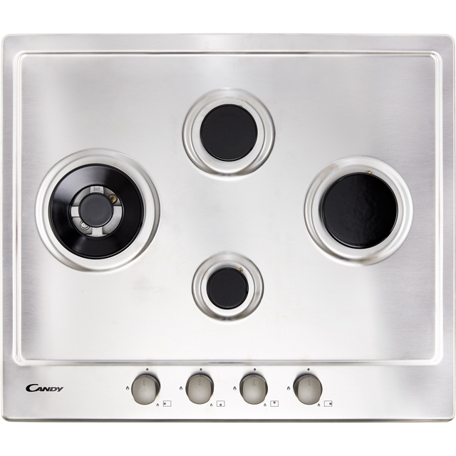 Candy CHW6D4WX Built In Gas Hob - Stainless Steel - CHW6D4WX_SS - 3