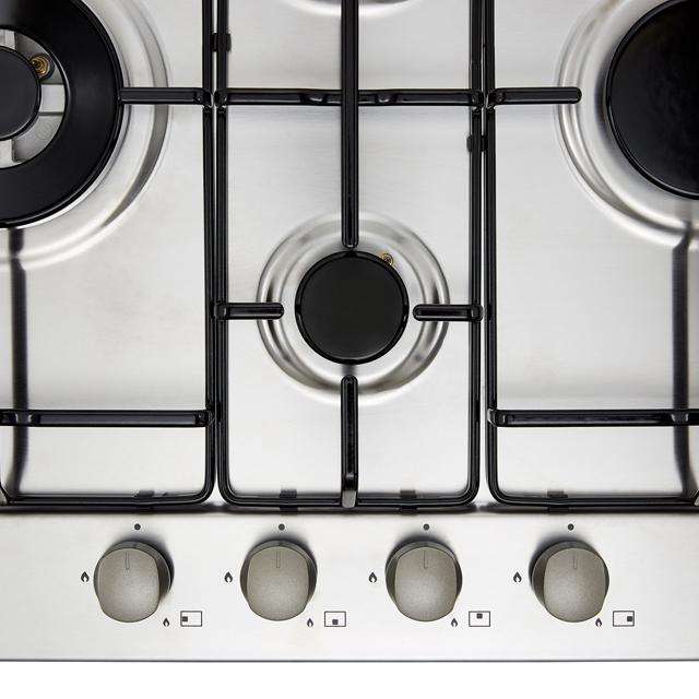 Candy CHW6D4WX Built In Gas Hob - Stainless Steel - CHW6D4WX_SS - 4