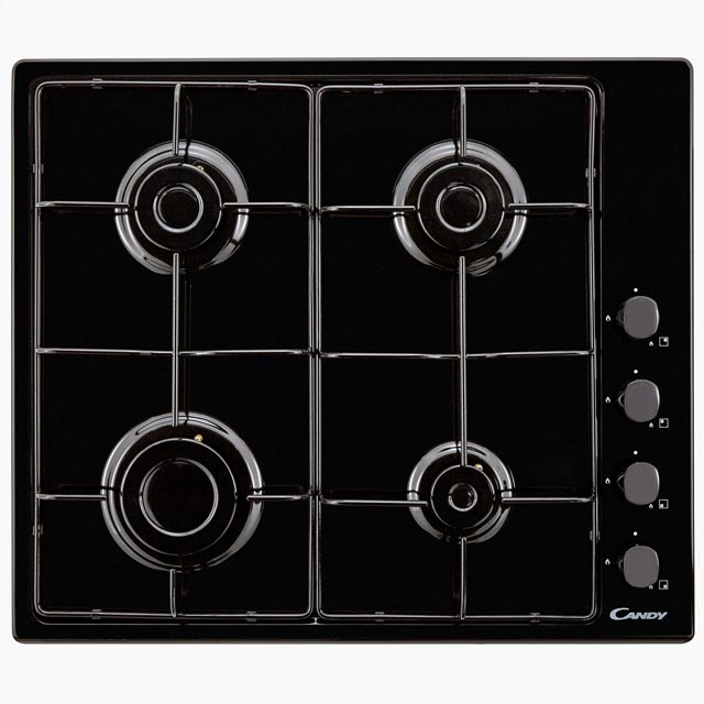 Candy CHW6LBB Built In Gas Hob - Black