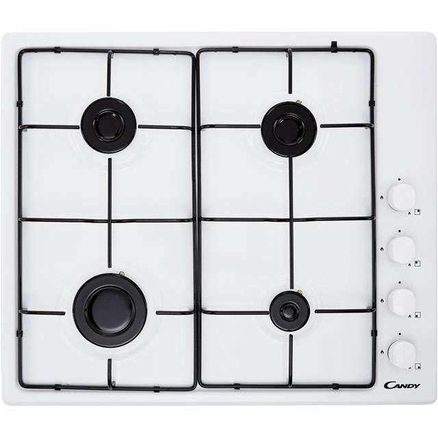 Candy CHW6LWW Built In Gas Hob - White - CHW6LWW_WH - 1