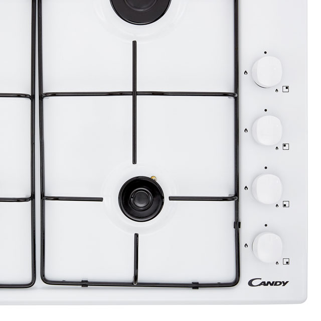 Candy CHW6LWW Built In Gas Hob - White - CHW6LWW_WH - 4