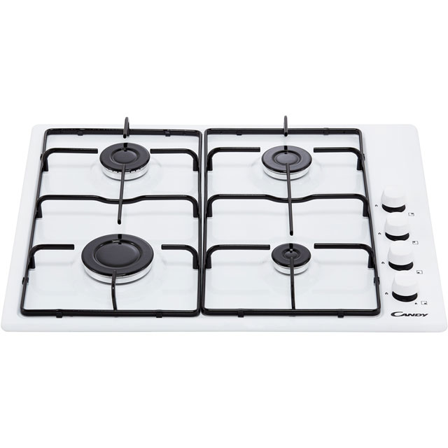 Candy CHW6LWW Built In Gas Hob - White - CHW6LWW_WH - 5