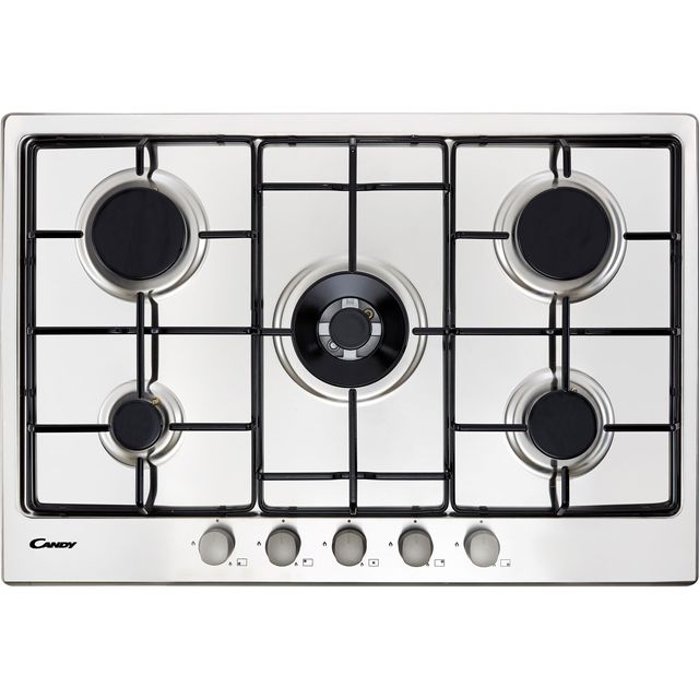 Candy CHW74WX 74cm Gas Hob - Stainless Steel - CHW74WX_SS - 1