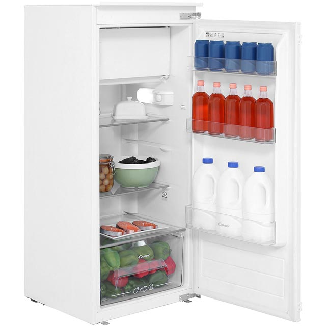 Candy CIO225EE Integrated Upright Fridge with Ice Box - Sliding Door Fixing Kit - A++ Rated