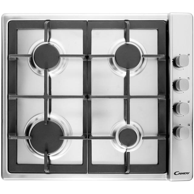 Candy Plan 58cm Gas Hob - Stainless Steel