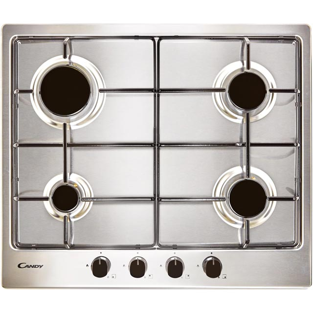 Candy CM6PBRX Built In Gas Hob - Stainless Steel - CM6PBRX_SS - 1