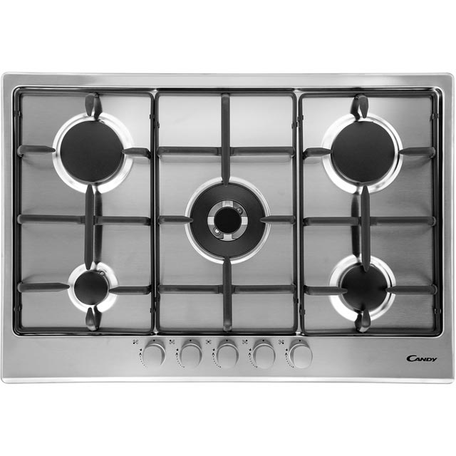 Candy CPG75SWPX 75cm Gas Hob - Stainless Steel