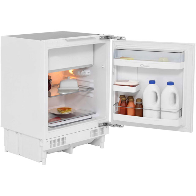 Candy CRU164EK Integrated Under Counter Fridge with Ice Box - Fixed Door Fixing Kit - A Rated