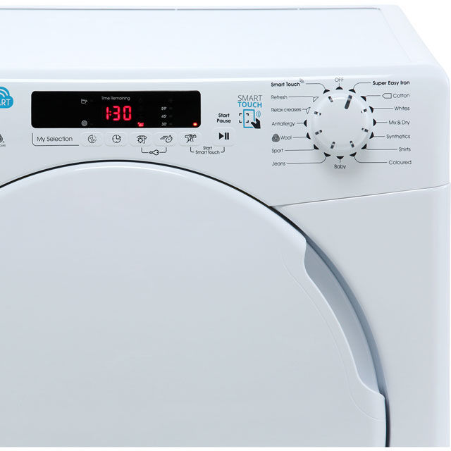Candy Smart CSC10DF Condenser Tumble Dryer - White - CSC10DF_WH - 3