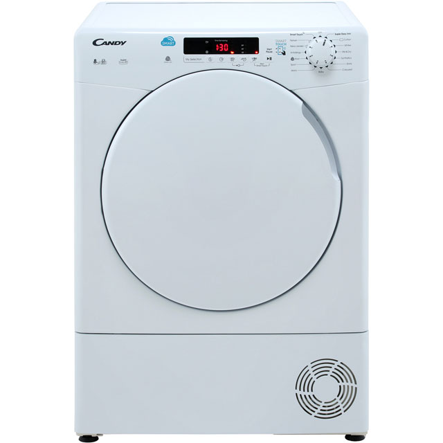 Candy Smart CSC8DF Condenser Tumble Dryer - White - CSC8DF_WH - 1