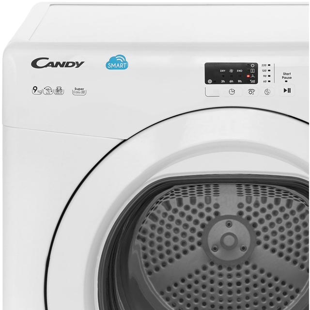 Candy Grand'O Vita CSVV9LG 9Kg Vented Tumble Dryer - White - C Rated - CSVV9LG_WH - 3
