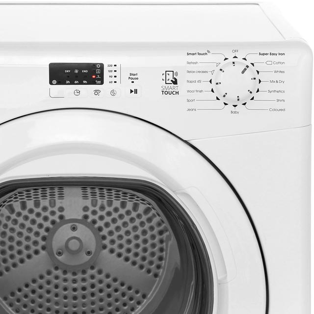 Candy Grand'O Vita CSVV9LG 9Kg Vented Tumble Dryer - White - C Rated - CSVV9LG_WH - 4