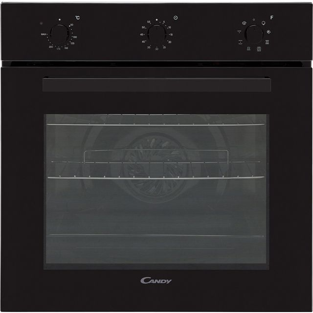 Candy FCP602N Built In Electric Single Oven - Black - A+ Rated - FCP602N_BK - 1