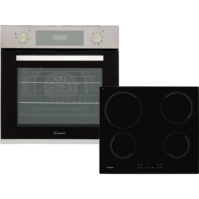 Candy FCP605XL/CH64CCB Built In Electric Single Oven and Ceramic Hob Pack - Stainless Steel / Black - A+ Rated - FCP605XL/CH64CCB_SSB - 1