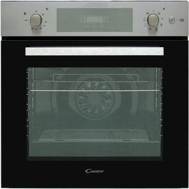 Candy FCP651SX Built In Electric Single Oven with added Steam Function - Stainless Steel - A Rated - FCP651SX_SS - 1
