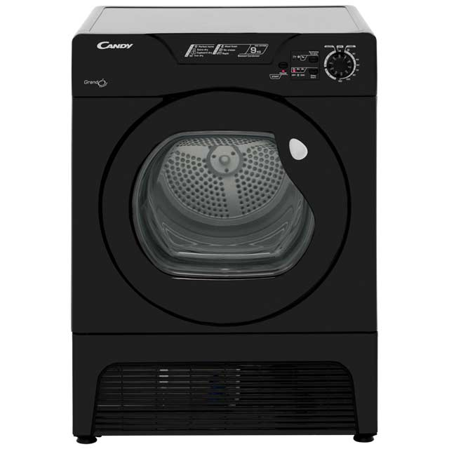 Candy Grand'O GCC591NBB Free Standing Condenser Tumble Dryer in Black