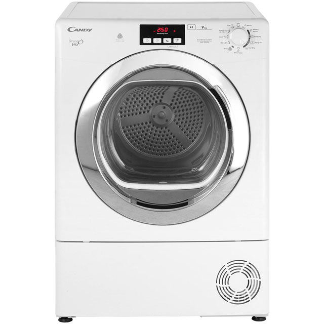 Candy Grand'O Vita GVCD91CB Free Standing Condenser Tumble Dryer in White
