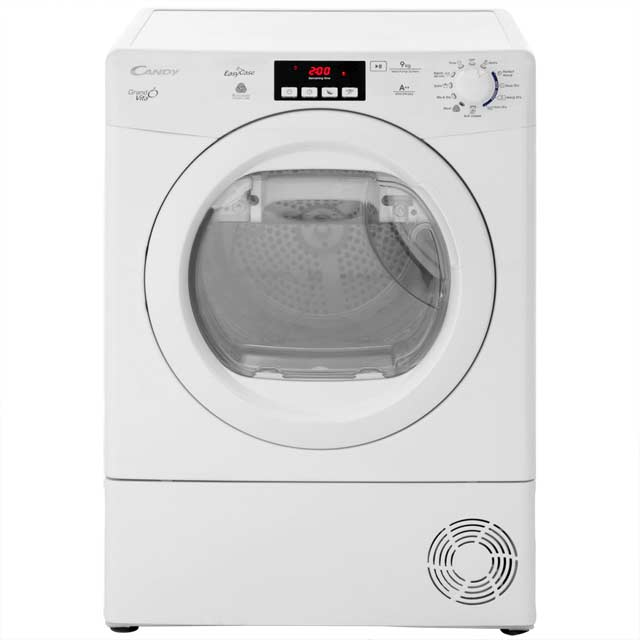 Candy Grand'O Vita GVHD913A2 Free Standing Condenser Tumble Dryer in White