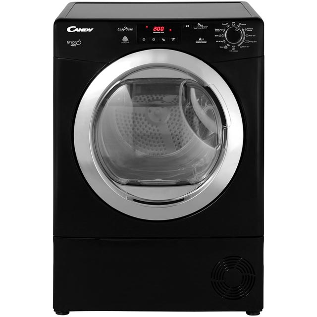 Candy Grand'O Vita Free Standing Condenser Tumble Dryer in Black